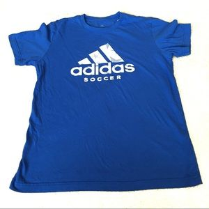 adidas Soccer Star Logo Blue Graphic Tee -Small